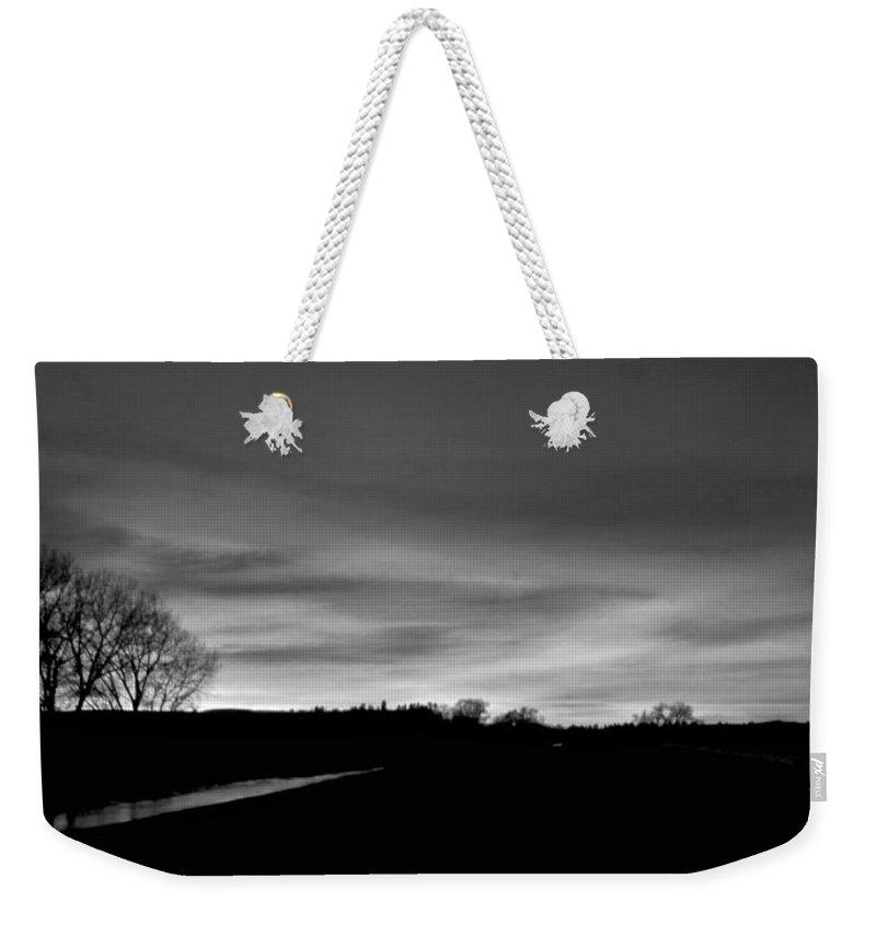 Montana Weekender Tote Bag featuring the digital art Evening Sky 6 by Susan Kinney