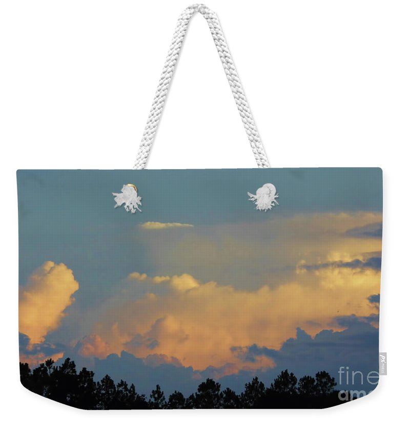 Sunset Weekender Tote Bag featuring the photograph Evening Sky In Rural Florida by D Hackett