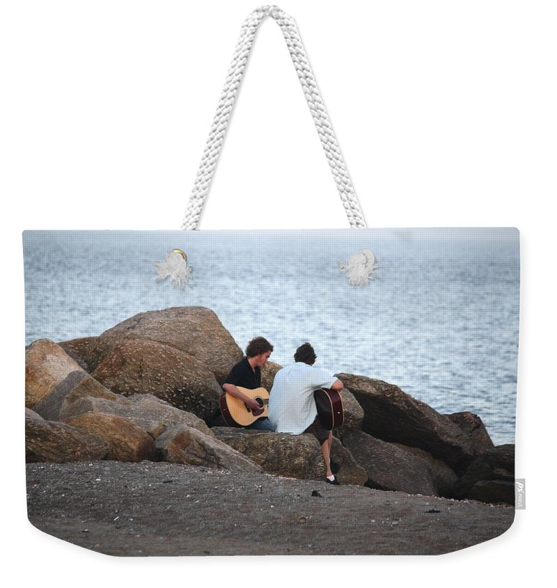Rocks Weekender Tote Bag featuring the photograph Evening Song by Donna Walsh