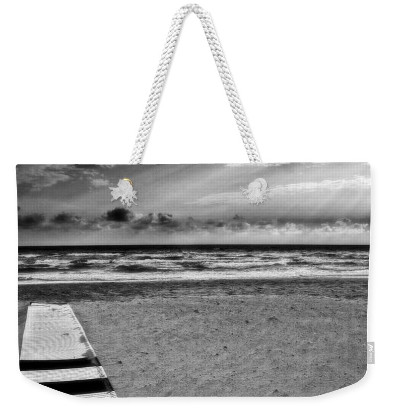 Landscape Weekender Tote Bag featuring the photograph Evening Tide by Silvia Ganora