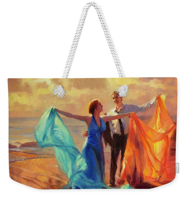 Romance Weekender Tote Bag featuring the painting Evening Waltz by Steve Henderson