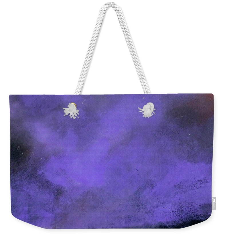 Landscape Weekender Tote Bag featuring the painting Evenings End by Toni Grote