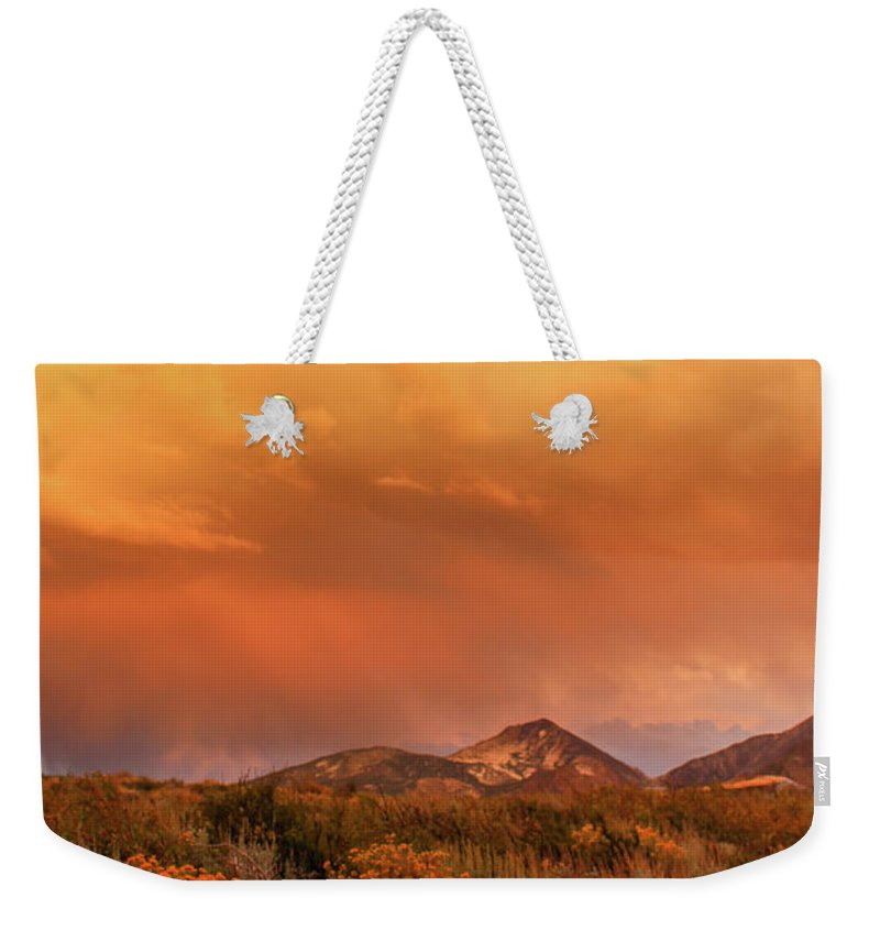 Sunset Weekender Tote Bag featuring the photograph Eventide by Jennifer McMahon