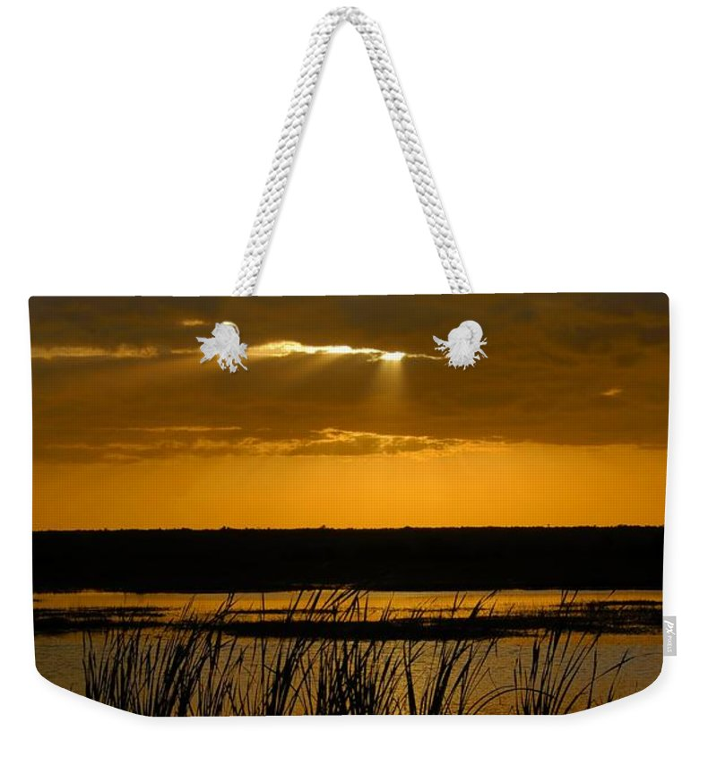 Everglades National Park Florida Weekender Tote Bag featuring the photograph Everglades Evening by David Lee Thompson