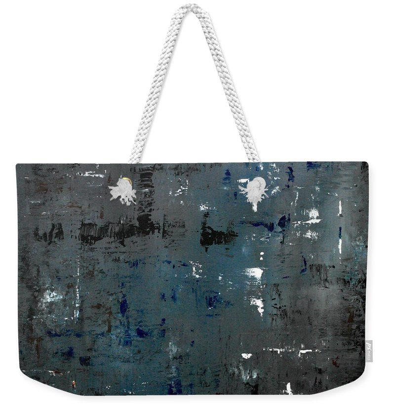 Abstract Weekender Tote Bag featuring the painting Every Now And Then by Wayne Cantrell