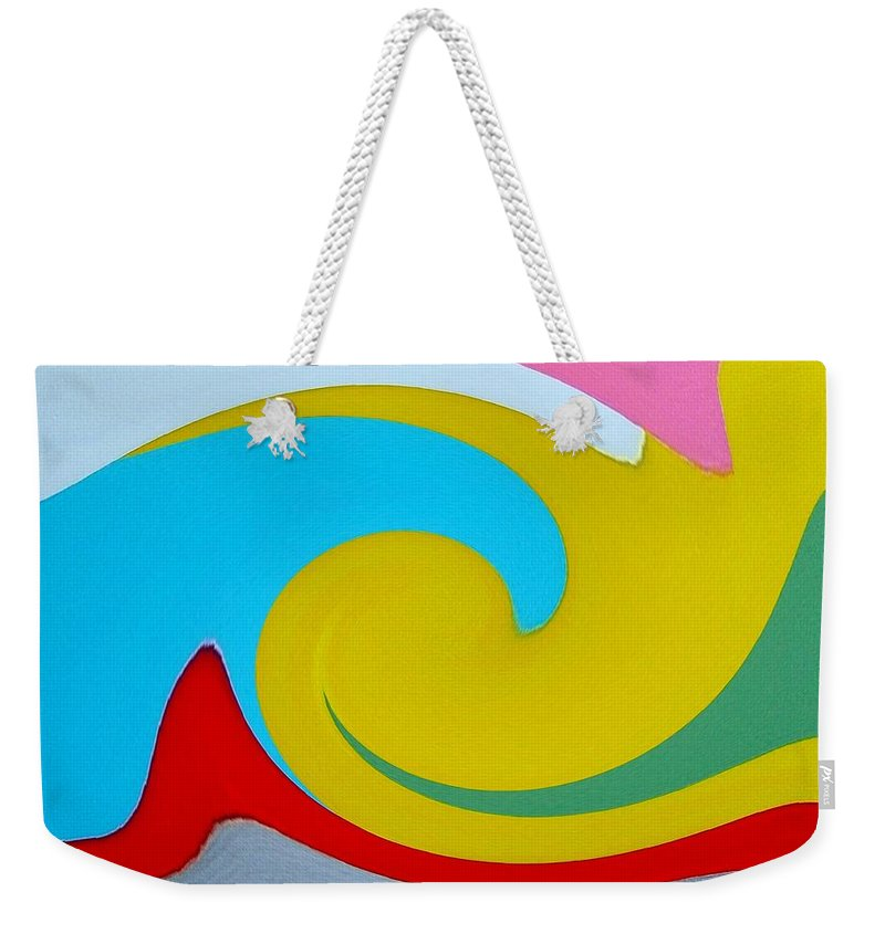 Abstract Weekender Tote Bag featuring the digital art Everybody Has A Cousin In Miami Two by Dick Sauer