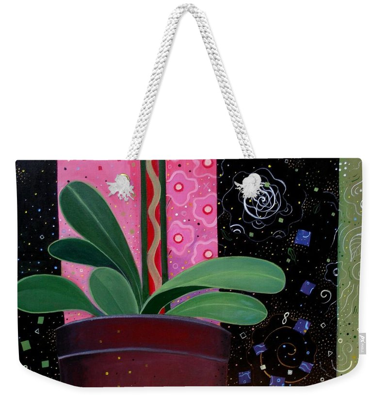 Sacred Weekender Tote Bag featuring the painting Everyday Sacred by Helena Tiainen