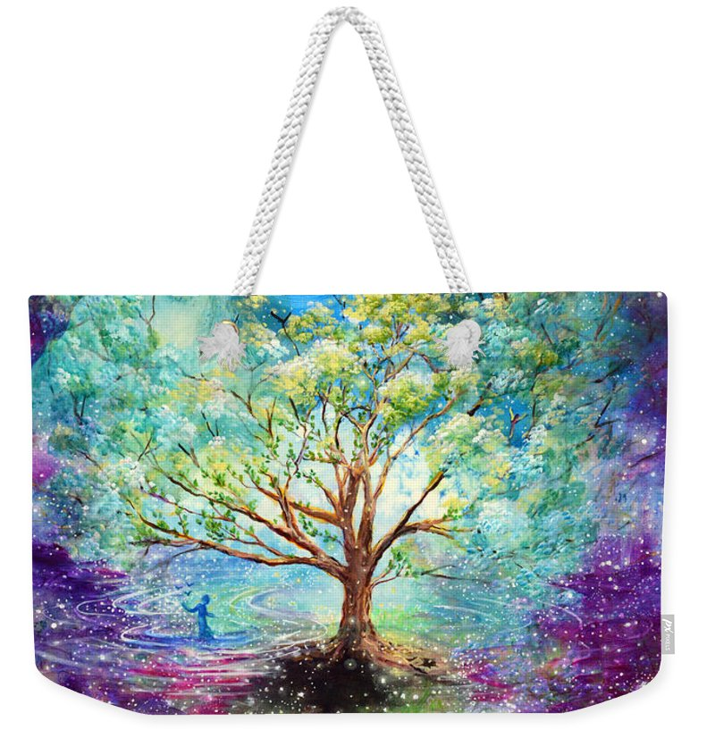 Magical Tree Weekender Tote Bag featuring the painting Everything Is An Opportunity To Practice New Beginnings by Ashleigh Dyan Bayer
