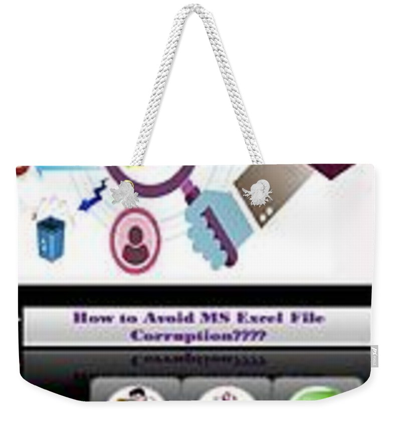 Excel Troubleshooting Weekender Tote Bag featuring the digital art Excel Troubleshooting To Fix Corrupt/damaged Excel File by Alice Jolly