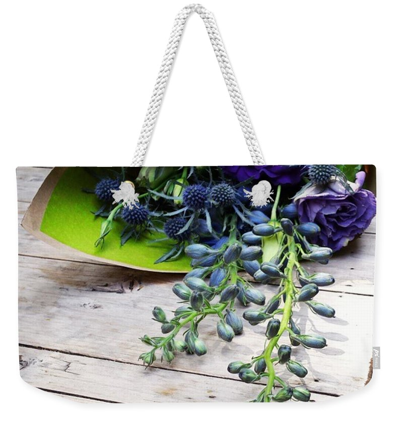 Gifttomyself Weekender Tote Bag featuring the photograph Excellent Customer Service. #flowers by Mr Photojimsf