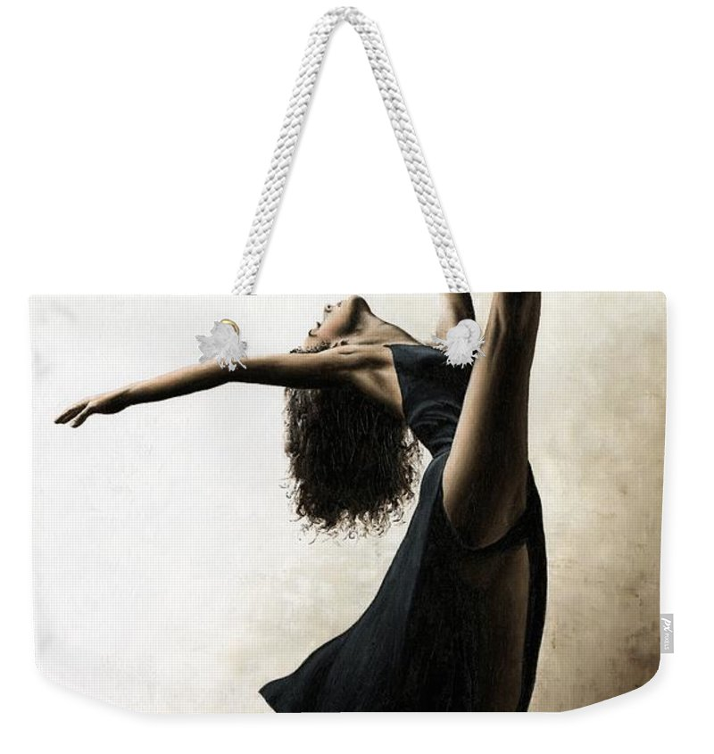 Dance Weekender Tote Bag featuring the painting Exclusivity by Richard Young