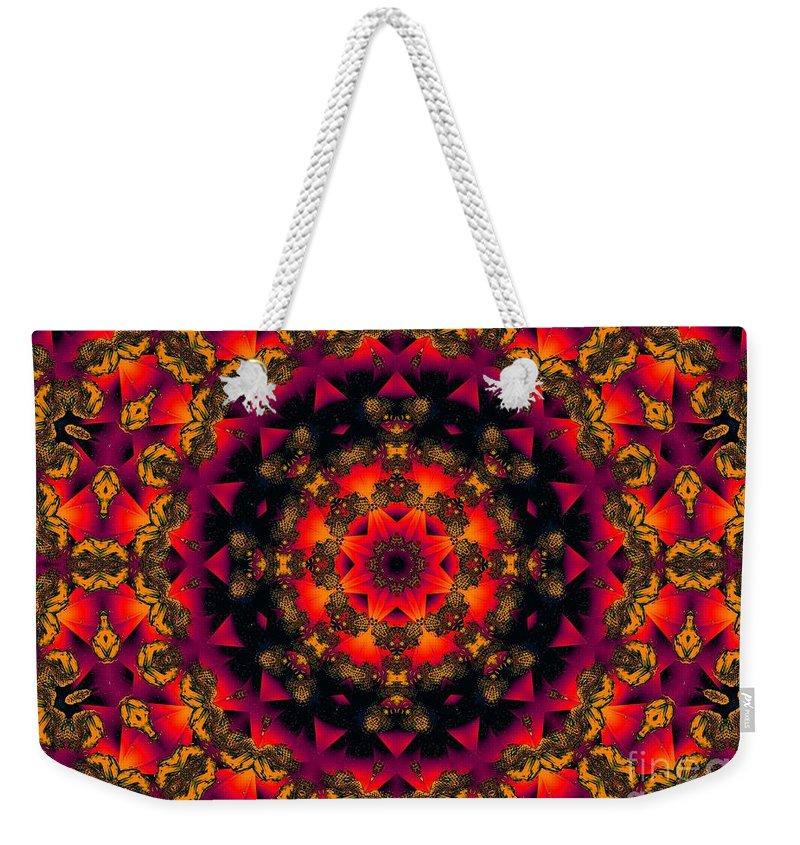 Colorful Weekender Tote Bag featuring the digital art Exotic Nights by Robert Orinski