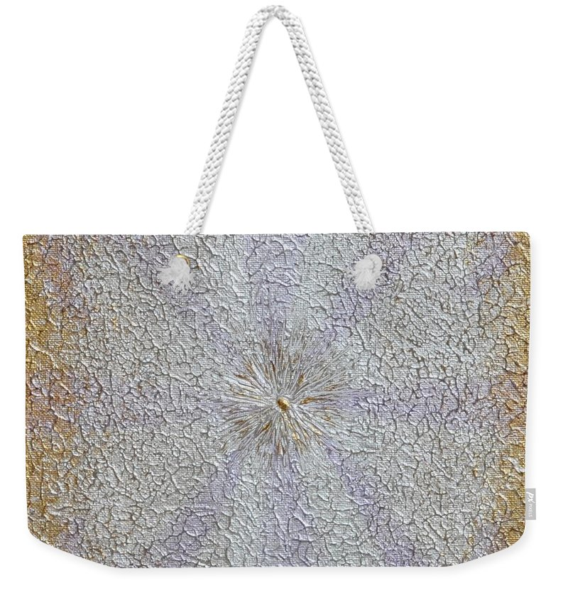 Abstract Painting Weekender Tote Bag featuring the painting Expansion by Georgeta Blanaru