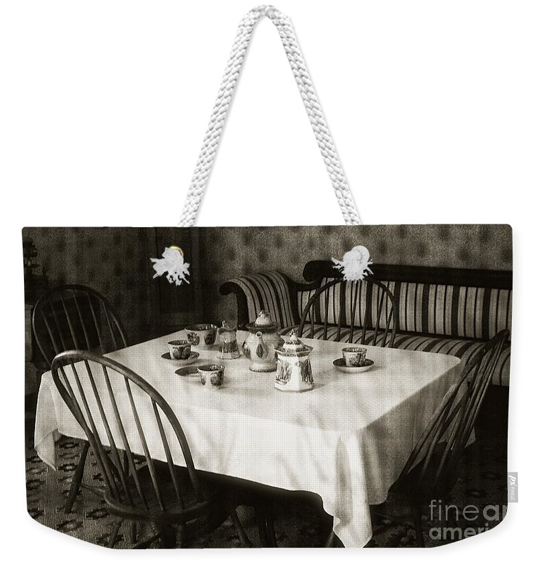 Still Life Weekender Tote Bag featuring the photograph Expecting Guests by RC DeWinter