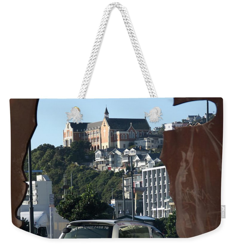 Wellington Weekender Tote Bag featuring the photograph Experiencing Welly Through Art by Brandy Herren