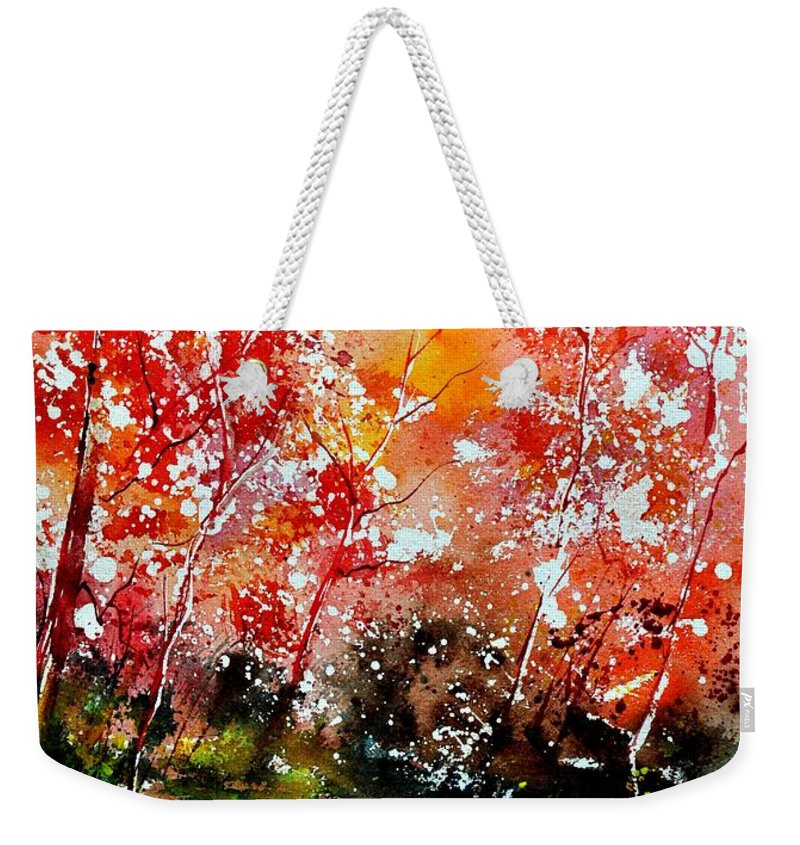 Nature Weekender Tote Bag featuring the painting Exploding Nature by Pol Ledent