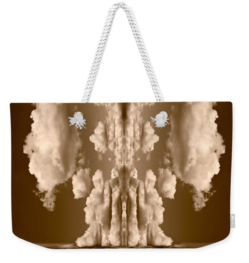 Cloud Weekender Tote Bag featuring the digital art Explorations II by Steve Gadomski