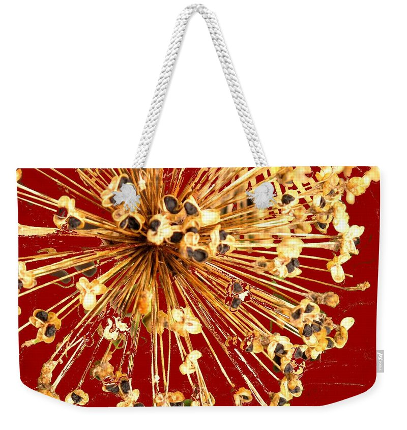 Explosion Weekender Tote Bag featuring the photograph Explosion Enhanced by Ian MacDonald