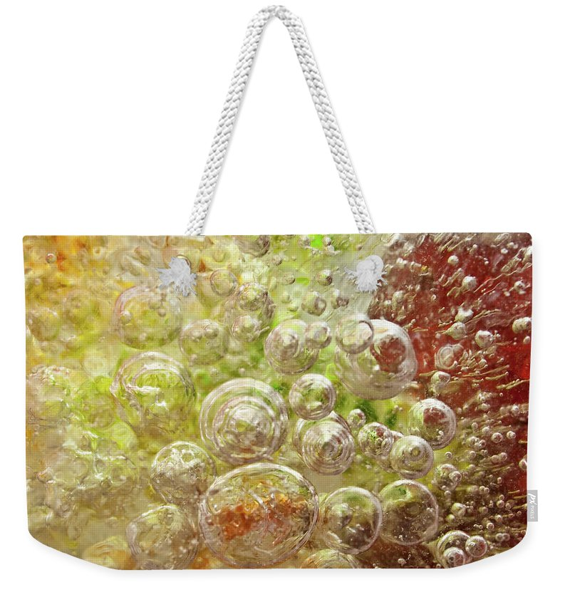 Abstract Weekender Tote Bag featuring the photograph Explosion by Shannon Workman
