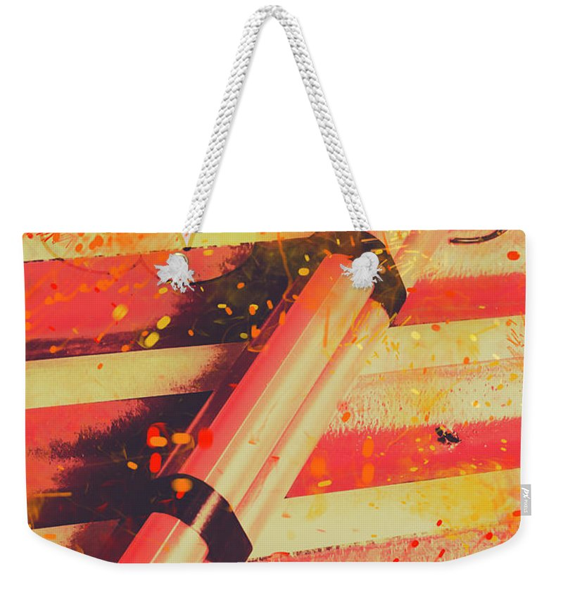 Art Weekender Tote Bag featuring the photograph Explosive Comic Art by Jorgo Photography - Wall Art Gallery