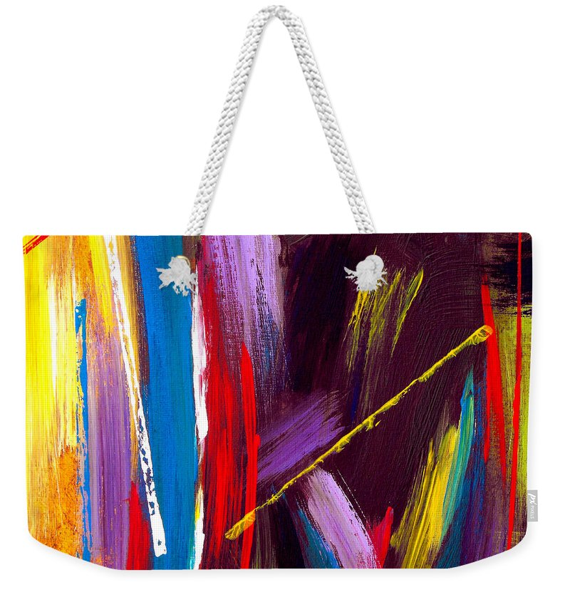 Abstract Weekender Tote Bag featuring the painting Express Yourself by Ruth Palmer