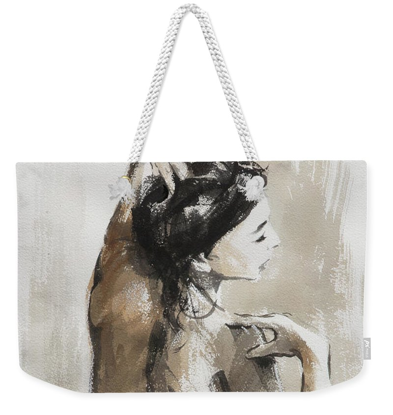 Woman Weekender Tote Bag featuring the painting Expression by Steve Henderson