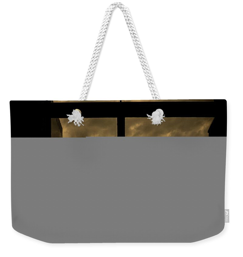 Weekender Tote Bag featuring the photograph External by John Unwin