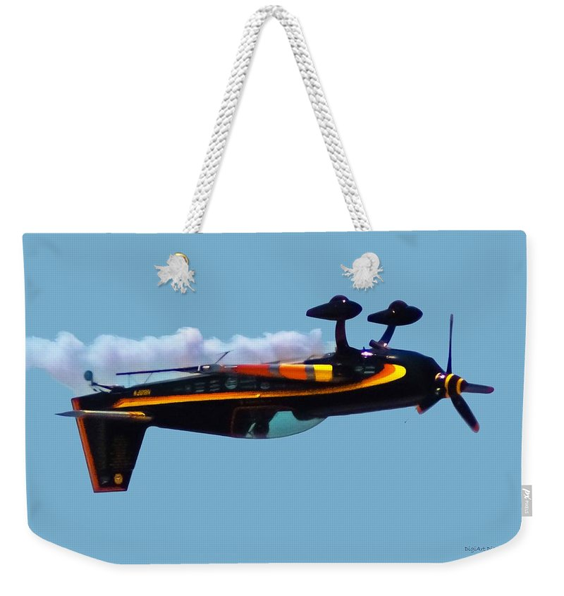 300s Weekender Tote Bag featuring the digital art Extra 300s Stunt Plane by DigiArt Diaries by Vicky B Fuller