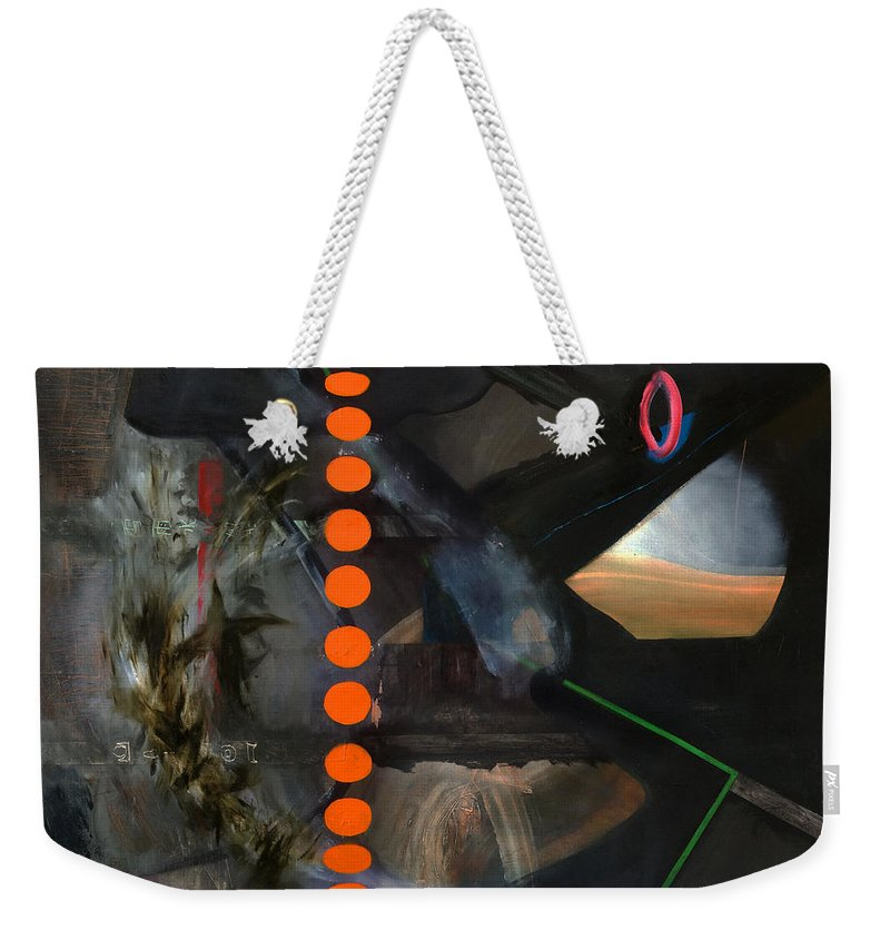 Abstract Art Weekender Tote Bag featuring the painting Extraterrestrial by Antonio Ortiz