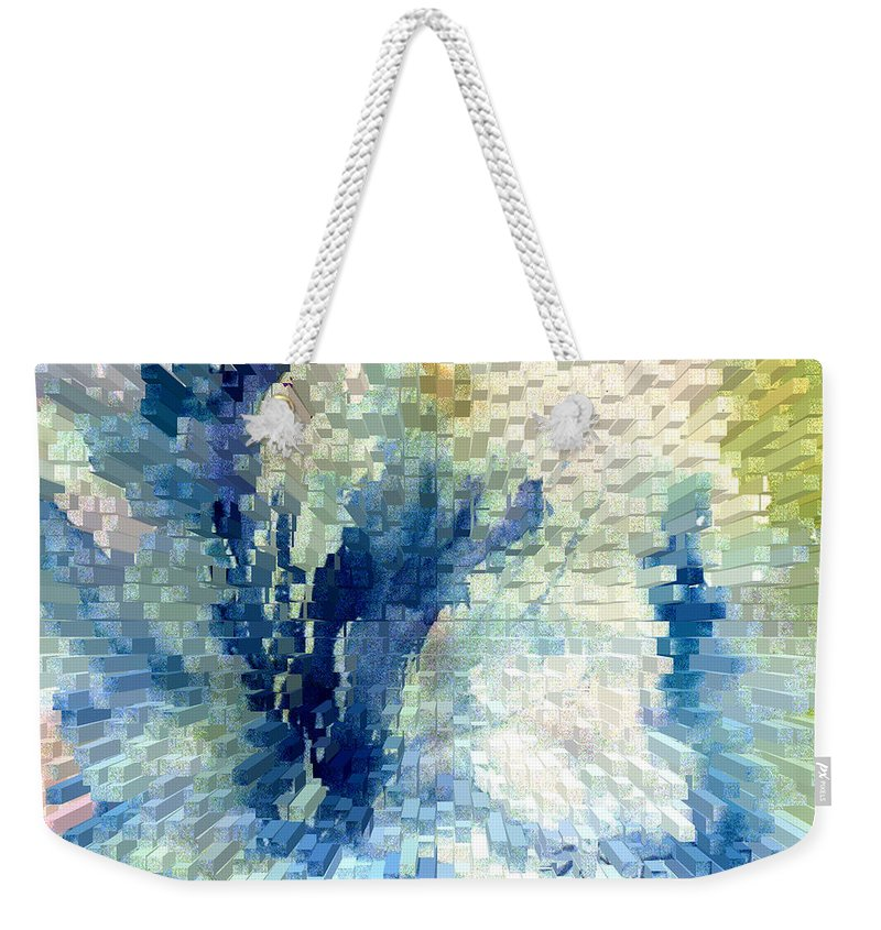 Abstract Weekender Tote Bag featuring the painting Extrude by Steve Karol