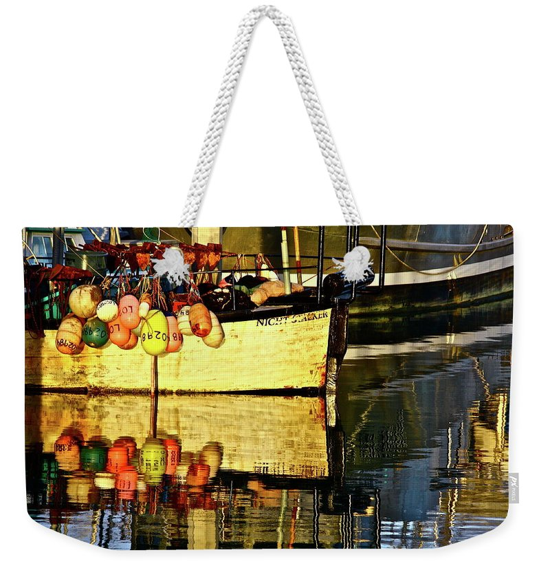 Boats Weekender Tote Bag featuring the photograph Eye Catching Colors by Diana Hatcher