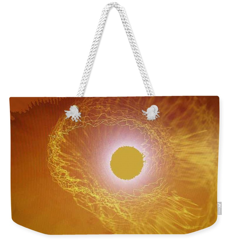 The Powerful Gaze Of The Almighty. Destroying Evil With His Almighty Sight. Weekender Tote Bag featuring the digital art Eye Of God by Seth Weaver