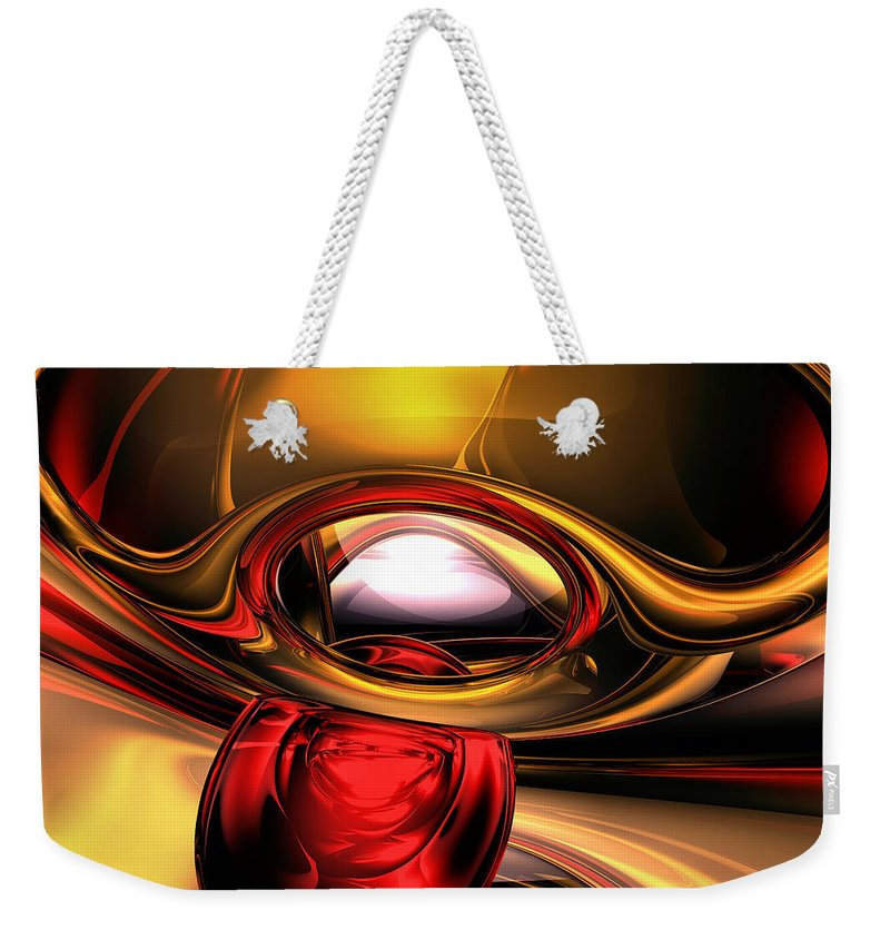 3d Weekender Tote Bag featuring the digital art Eye Of The Gods Abstract by Alexander Butler