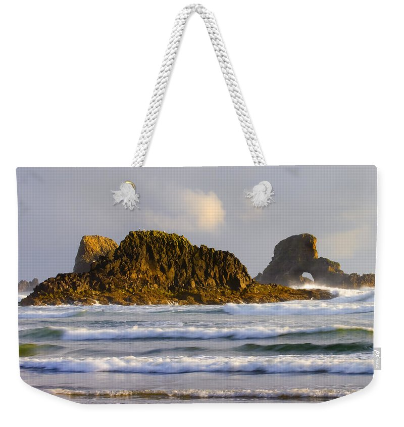 Seastacks Weekender Tote Bag featuring the photograph Eye Of The Storm by Mike Dawson