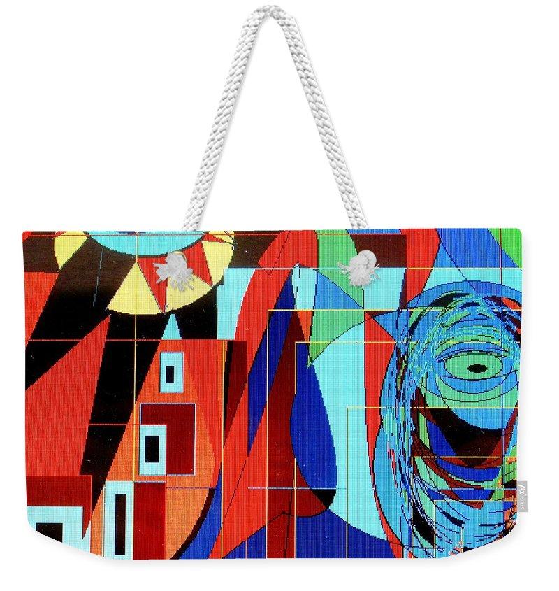 Eye Weekender Tote Bag featuring the digital art Eye Of The Tiger by Ian MacDonald