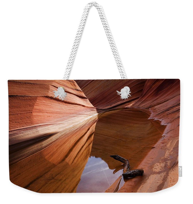 Wave Rock Weekender Tote Bag featuring the photograph Eye Of The Wave by Mike Dawson