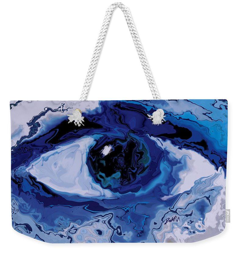 Eye Weekender Tote Bag featuring the digital art Eye by Rabi Khan