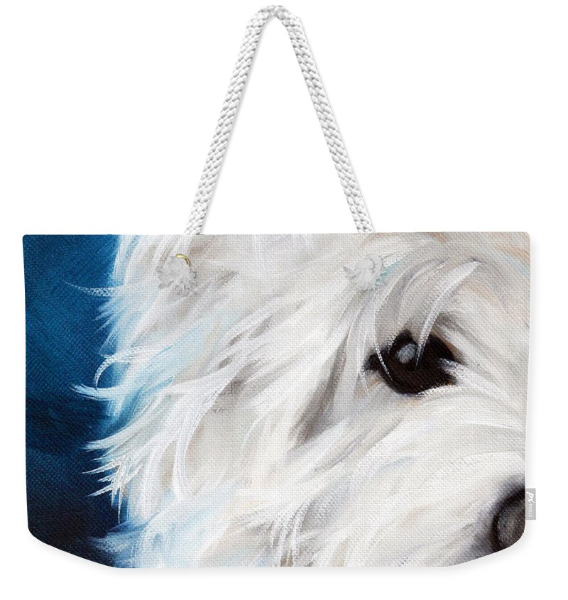 Art Weekender Tote Bag featuring the painting Eye See You by Mary Sparrow