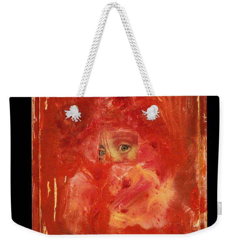 Eyes Weekender Tote Bag featuring the mixed media Eyes by Jaime Becker
