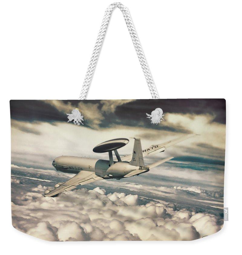 Awacs Weekender Tote Bag featuring the digital art Eyes With An Altitude by Peter Scheelen