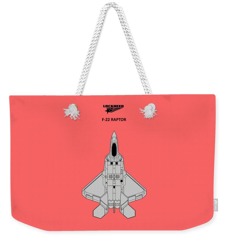 F-22 Weekender Tote Bags