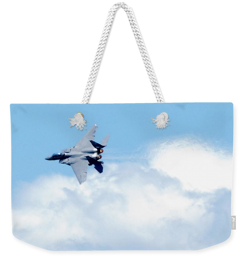 F15 Weekender Tote Bag featuring the photograph F15 - Heatwave by Greg Fortier