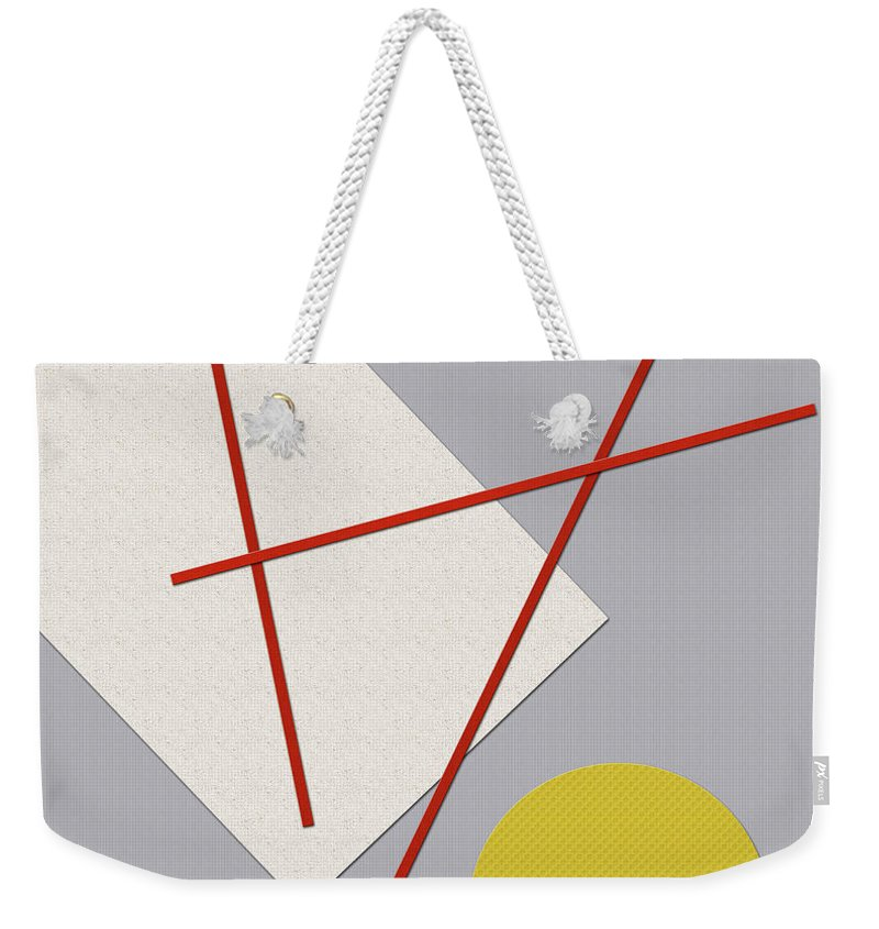 Minimalism Weekender Tote Bag featuring the digital art Fabricating Space by Richard Rizzo