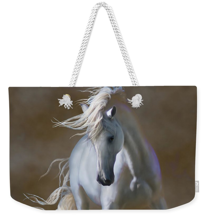 Andaluian Weekender Tote Bag featuring the digital art Fabuloso by Barbara Hymer