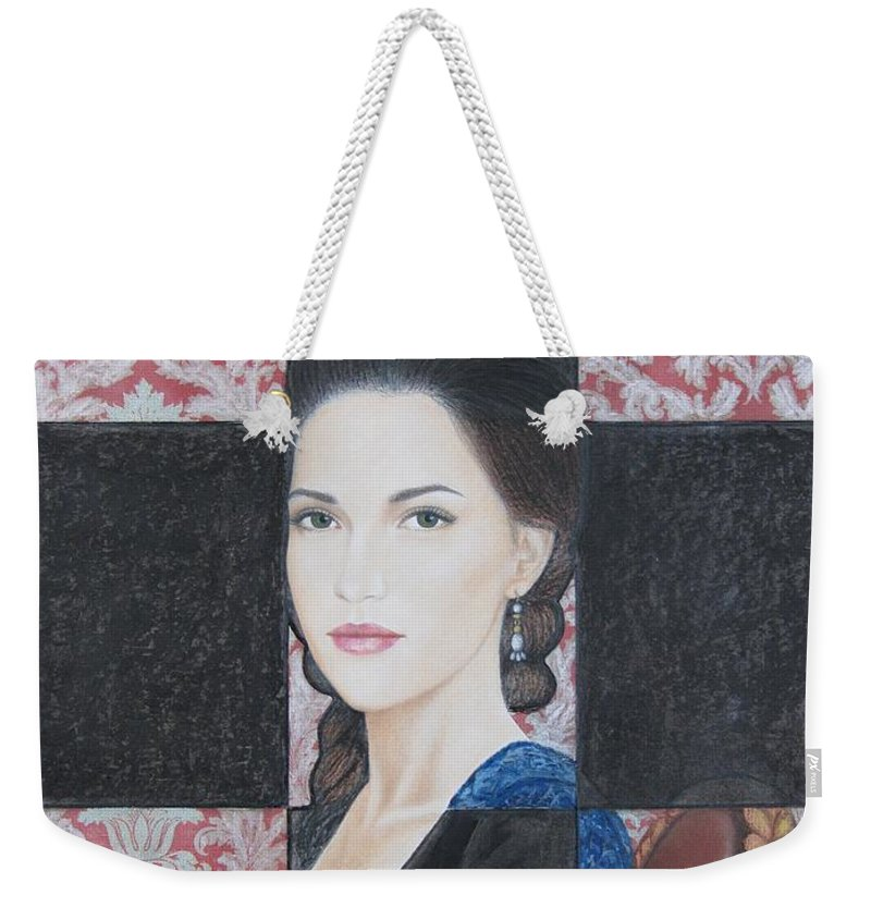 Facade Weekender Tote Bag featuring the painting Facade by Lynet McDonald