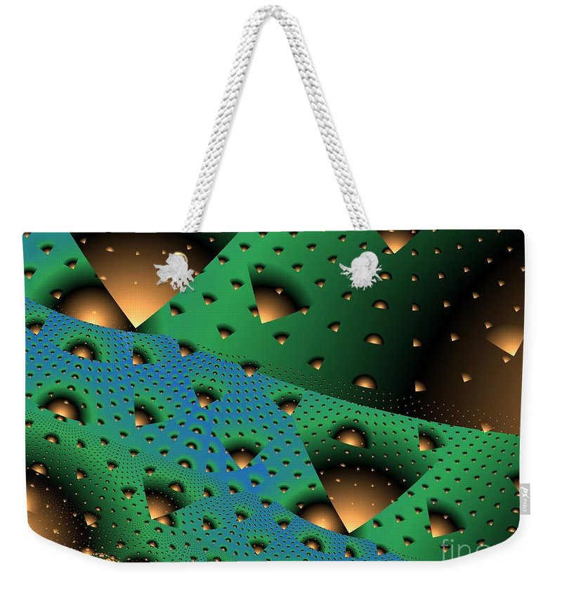Fractal Art Weekender Tote Bag featuring the digital art Facades And Fenestration by Ron Bissett