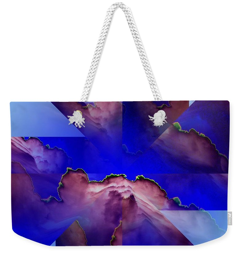Clouds Weekender Tote Bag featuring the digital art Face Cloud Illusion by Tim Allen