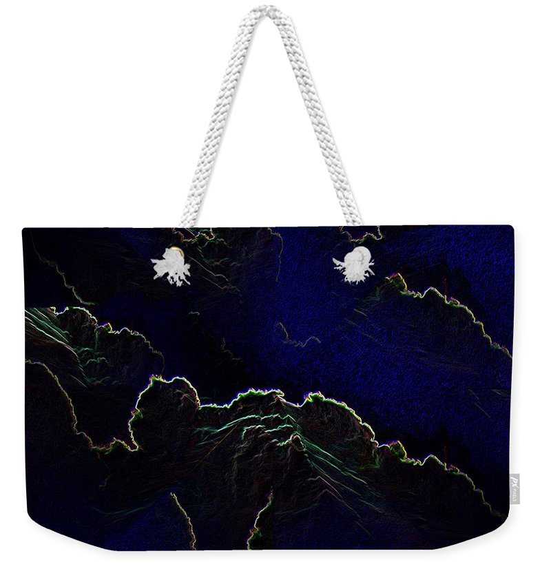 Clouds Weekender Tote Bag featuring the photograph Face Cloud by Tim Allen