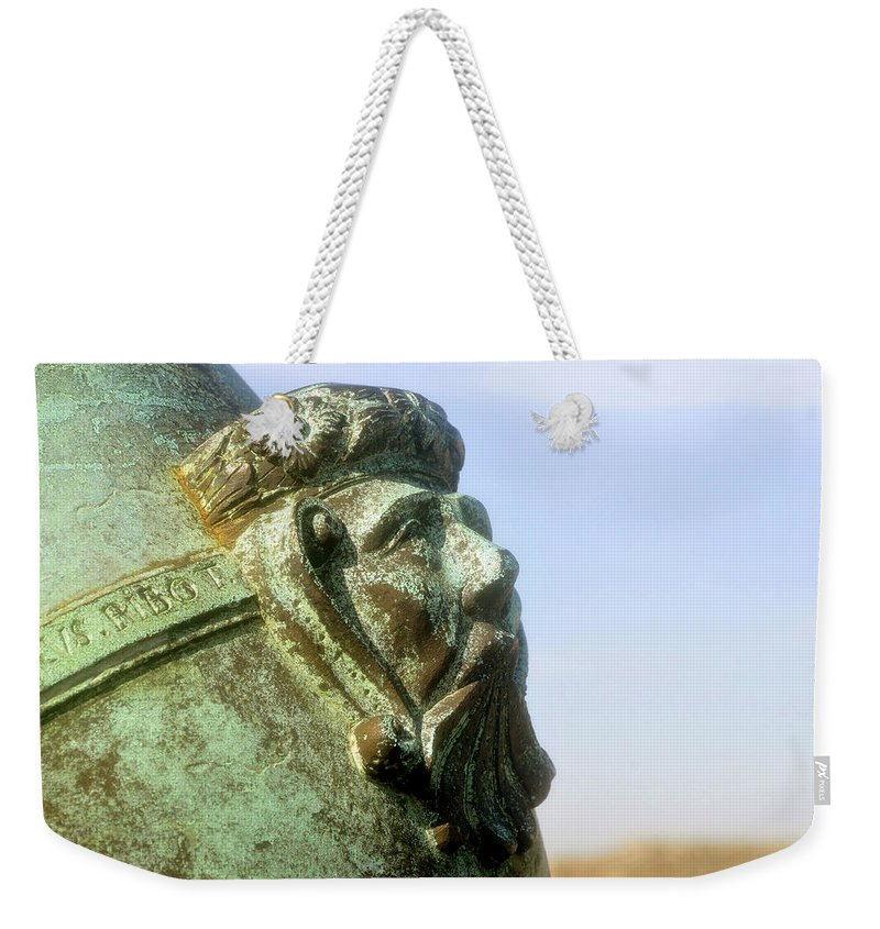 Cannon Weekender Tote Bag featuring the photograph Face On The Cannon by David Lee Thompson
