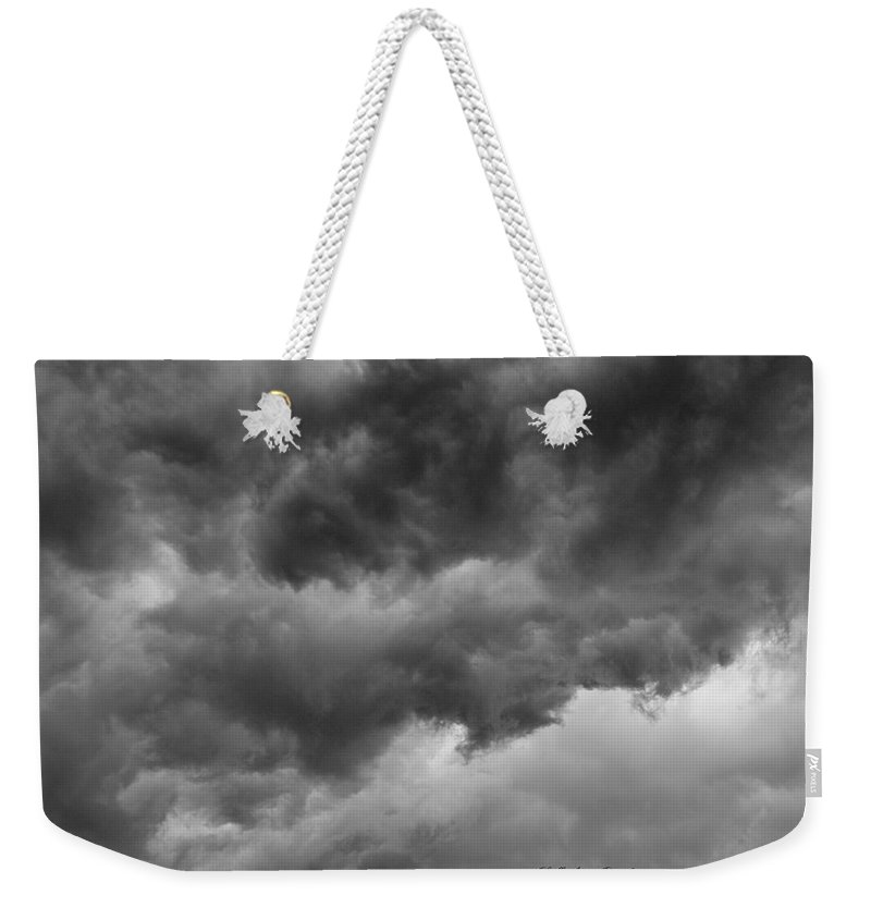Clouds Weekender Tote Bag featuring the photograph Faces In The Mist Of Chaos by ChelleAnne Paradis